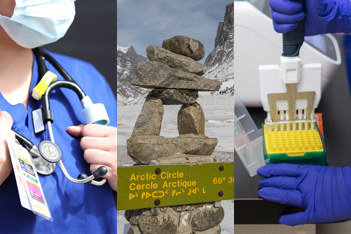 Doctor, Arctic Circle, and PCR machine