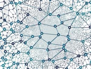 Layered digital humanities network diagram