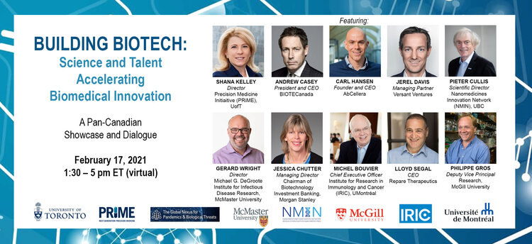 PRiME announces a Pan-Canadian Biomedical Innovation Showcase featuring research and industry leaders